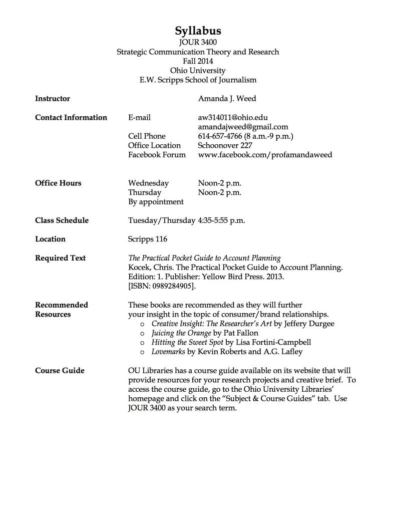 JOUR 3400 Syllabus Page 1