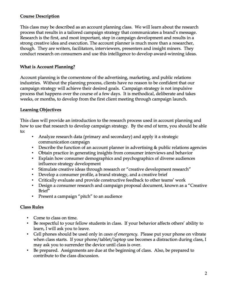 JOUR 3400 Syllabus Page 2
