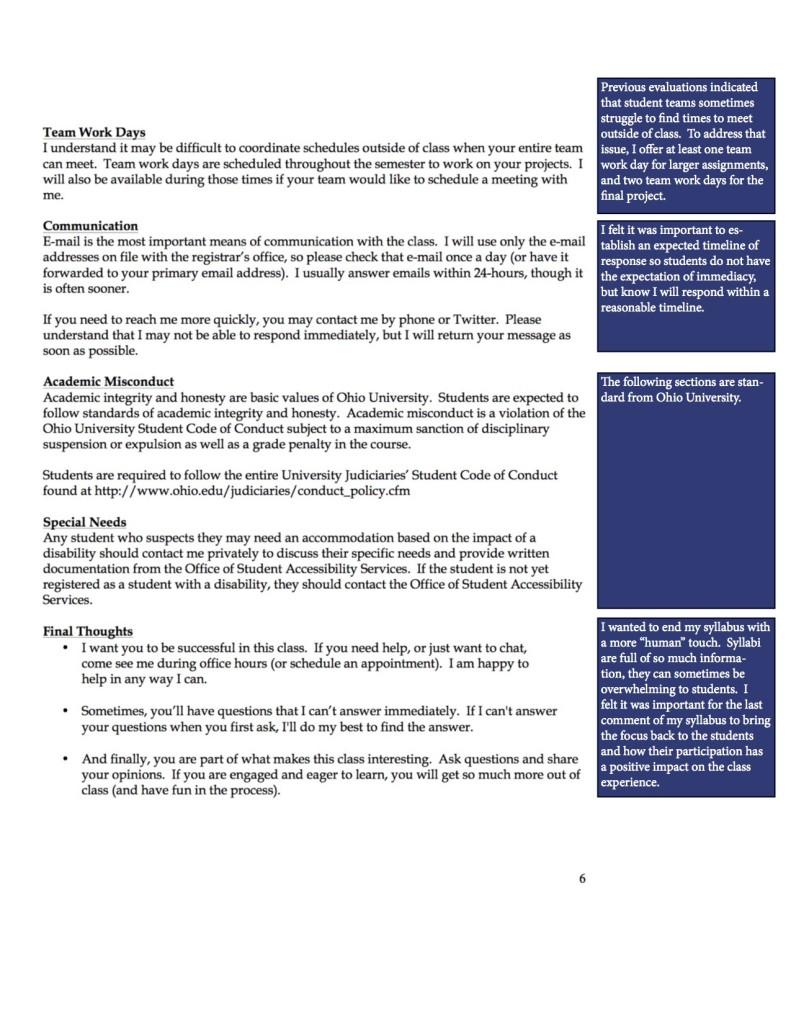 JOUR4530 ReflectiveSyllabus Page 6